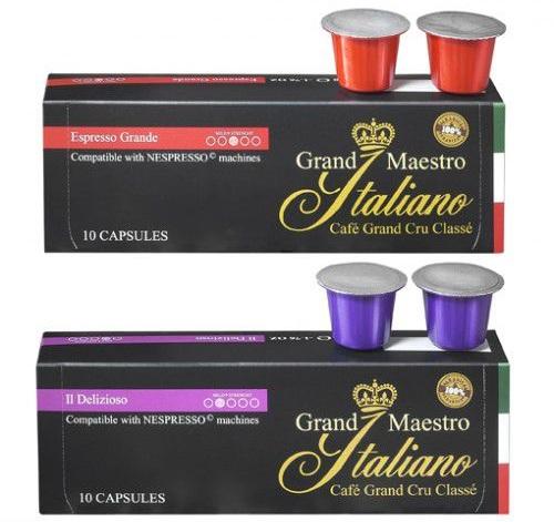 Bild zu 100 Kaffee-Kapseln (Nespresso geeignet) für 19,40€ inkl. Versand