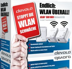 Bild zu Devolo dLAN 500 WIFI Network Kit für 99€ inkl. Versand