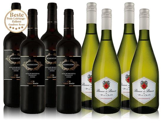 Bild zu Probierpaket Italien (4 Flaschen Merlot + 4 Flaschen Frizzante) für 29,99€ inkl. Versand