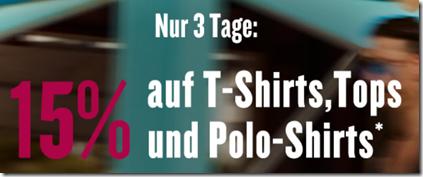 Bild zu Tom Tailor: 15% Rabatt auf reguläre T-Shirts, Tops und Polo-Shirts