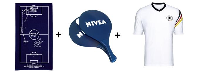 Bild zu Amazon: Nivea Produkte für 12€ bestellen + 3 Gratisartikel (Handtuch, Trikot + Ballset) sowie 10€ Amazon Beauty Gutschein gratis erhalten