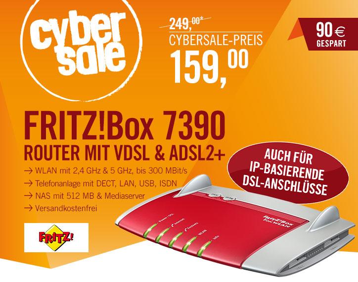 Bild zu VDSL & ADSL2+ WLAN-Router AVM FRITZ!Box 7390 für 159€ inkl. Versand