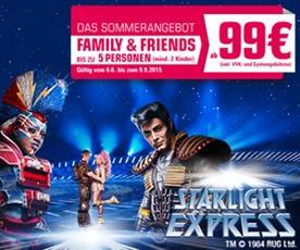 Bild zu bis zu 5 Starlight Express Tickets ab 99€