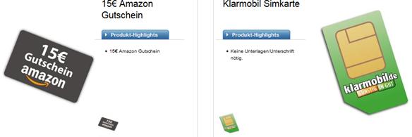 Bild zu Für Logitel Bestandskunden: Klarmobil SIM Karte mit 10€ Guthaben + 15€ Amazon Gutschein für 1,95€