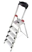 Bild zu Hailo Profistep XXL Aluminium Sicherheitsleiter 5 Stufen für 49,90€
