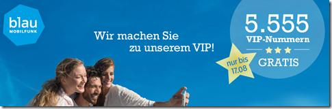 Bild zu Blau.de Prepaidkarte mit 10€ Startguthaben (+ 15€ Aufladebonus) inklusive gratis VIP Nummer für 9,90€