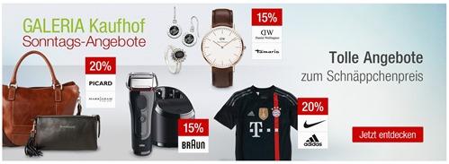 Bild zu Galeria Kaufhof Sonntags-Angebote, z.B. 20% Rabatt auf ausgewählte, bereits reduzierte Handtaschen + 10% Newsletter-Rabatt