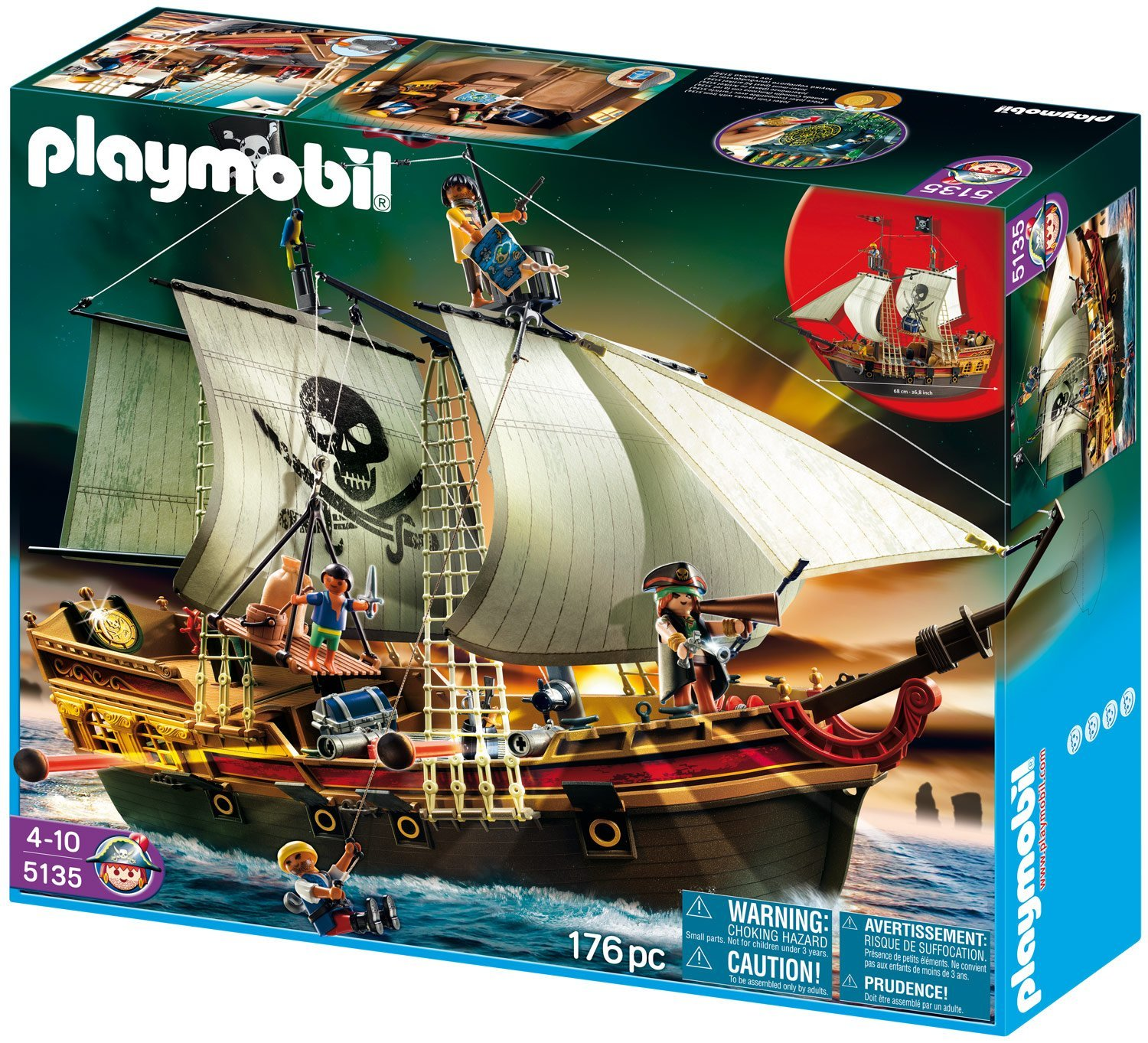 playmobil piraten beuteschiff 5135 f r 52 92 inkl versand. Black Bedroom Furniture Sets. Home Design Ideas