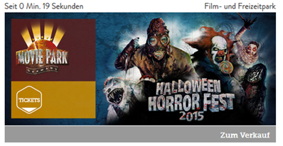 "Bild zu [Top] Movie Park ""Halloween Horror Fest"" Ticket inkl. Burger-Menü (Hamburger, kleine Pommes, 0,3l Softdrink) ab 16,50€"