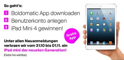 Bild zu *Info*– Boldomatic iOS App downloaden + iPad Mini 4 gewinnen