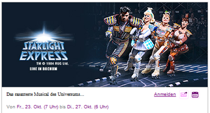 Bild zu Ab morgen: Starlight Express Tickets bei Vente-Privee