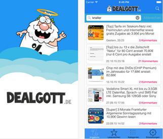 Bild zu Info für iOS Nutzer: neue Dealgott App Version für Apple ist da