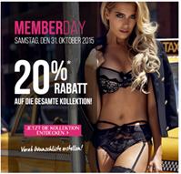 Bild zu Hunkemöller: Member Days – 20% Rabatt auf die gesamte Kollektion