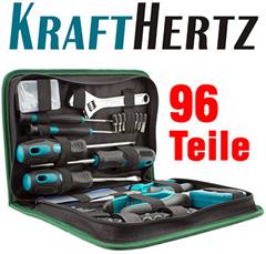Bild zu KRAFTHERTZ Werkzeug Set 50tlg, 96tlg oder 123tlg für 14,99€ inklusive Versand