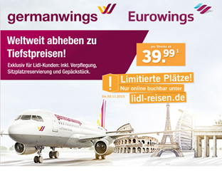 Bild zu Internationale Germanswings Tickets ab 39,99€ inkl. aller Gebühren