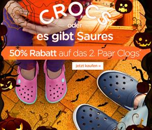 Bild zu Wieder da: 50% Rabatt auf das 2. Paar bei Crocs.de + keine Versandkosten