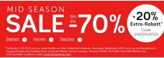 Bild zu nur heute: Mirapodo: Sale mit bis zu 70% Rabatt + 20% Extra Rabatt