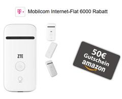 Bild zu 6GB Internet Flat im Telekom Netz & gratis mobilen Hotspot für rechnerisch 10,91€/Monat