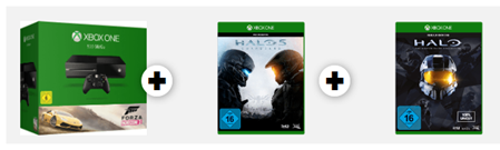 Bild zu Xbox One (500GB) Konsole inkl. Forza Horizon 2 + Halo 5: Guardians + Halo: The Master Chief Collection für 344€