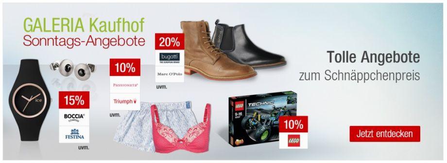 Bild zu Galeria Kaufhof Sonntags-Angebote, z.B. 20% Rabatt auf alle Kuscheltiere von Steiff + 10% Newsletter-Rabatt