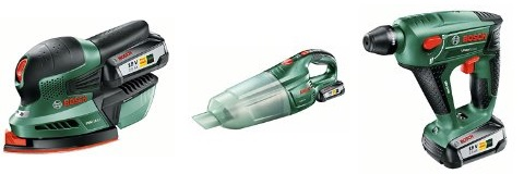 Bild zu Amazon: Verschiedene reduzierte Bosch Akku-Werkzeuge, z.B.: Bosch Akku-Multischleifer PSM 18-Li für 94,99€ (Vergleich: 129,90€)