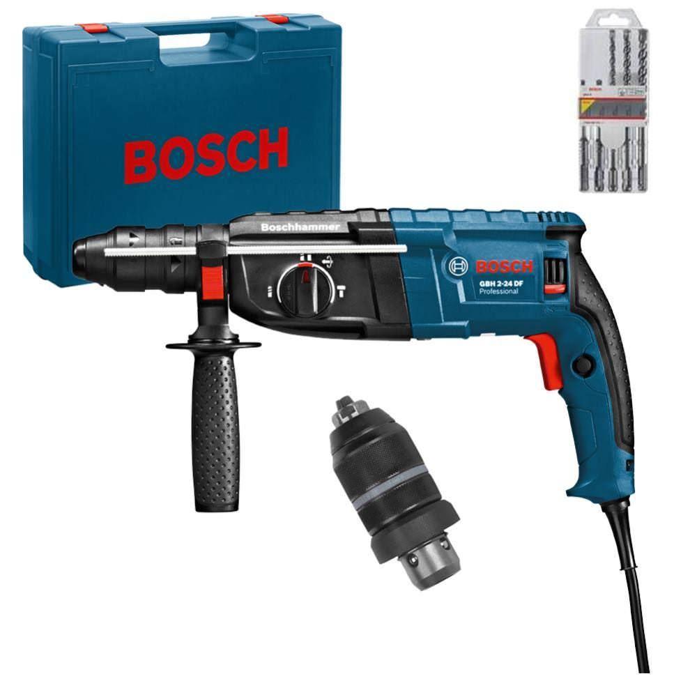 Bild zu Bosch Bohrhammer GBH 2-24 DF mit Bohrerset, Wechselbohrfutter und Koffer für 179€ inkl. Versand