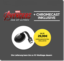 Bild zu Google Chromecast 2 + Avengers – Age of Ultron für 29,99€