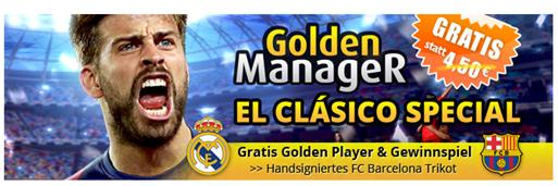 """Bild zu iPhone App """"Golden Manager"""": heute Golden Player im Wert von 4,50€ gratis bekommen + Chance auf FC Barcelona Trikot mit Widmung"""
