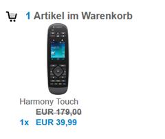 Bild zu Preisfehler: Logitech Harmony Touch Fernbedienung für 39,99€
