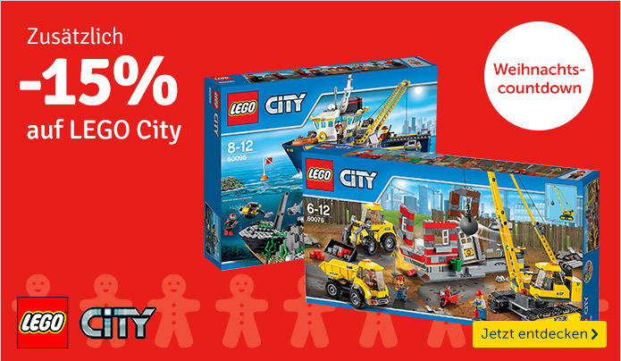 Bild zu MyToys: 15% Rabatt auf Lego City Artikel (ab 40€ MBW)