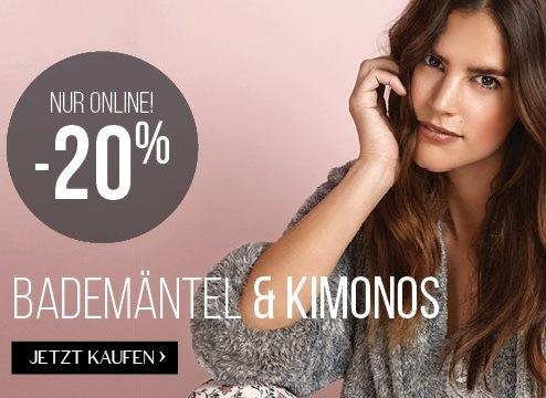 Bild zu Hunkemöller: 20% Rabatt auf Bademäntel und Kimonos