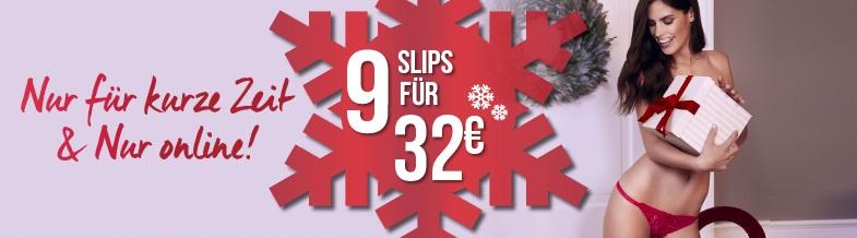Bild zu Hunkemöller: 9 Slips für 32€ (zzgl. 4,95€ Versand oder Filiallieferung)