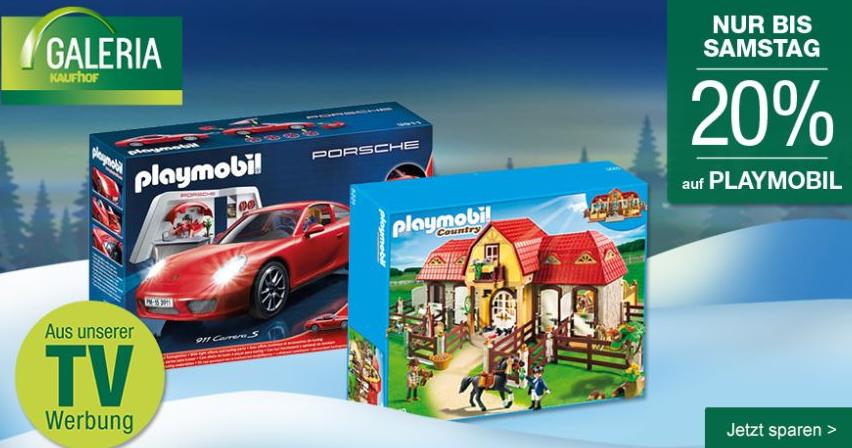 Bild zu Galeria Kaufhof: 20% Rabatt auf Playmobil + 10% Newsletter-Rabatt