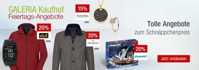 Bild zu Galeria Kaufhof Feiertags-Angebote, z.B. 20% Rabatt auf alle Artikel von PLAYMOBIL