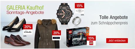 Bild zu Galeria Kaufhof Sonntags-Angebote, z.B. 15% Rabatt auf alle Artikel der Marken LEGO City und LEGO Technic