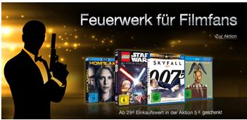 Bild zu Amazon: 5€ Rabatt beim Kauf von Filmen und Serien im Wert von mindestens 29€