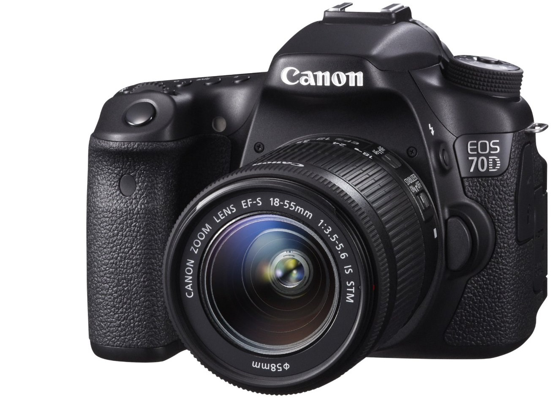 Bild zu SLR-Digitalkamera Canon EOS 70D + EF-S 18-55mm 1:3,5-5,6 IS STM Objektiv für 789€