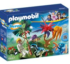 Bild zu PLAYMOBIL 6687 – Lost Island mit Alien und Raptor ab 6,40€