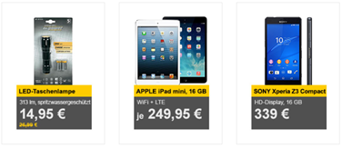Bild zu Die Allyouneed.com Tagesangebote, z.B. Apple iPad mini WiFi + LTE für je 249,95€