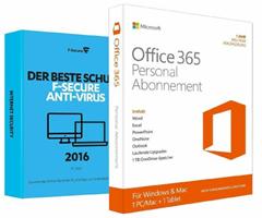 Bild zu Microsoft Office 365 Personal + F-Secure Anti-Virus 2016 (1PC/1Jahr) für 29,90€
