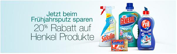 Bild zu Amazon: 20% Rabatt beim Kauf von 3 Henkel-Produkten