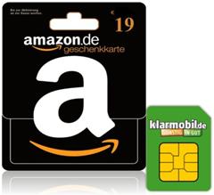 Bild zu Klarmobil SIM-Karte mit 10€ Startguthaben + 19,00 Euro Amazon Gutschein für 1,95€