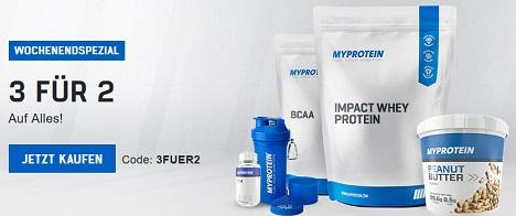Bild zu MyProtein: 3 für 2 Aktion auf alle Artikel + kostelose Skinny Protein Bites (50€ MBW)