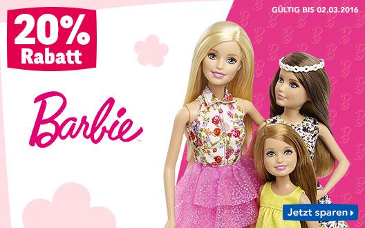 Bild zu Toys'R'Us: 20% Rabatt auf alle Barbie Artikel