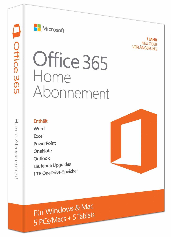 Bild zu [bis 22 Uhr] Microsoft Office 365 Home – 5PCs/MACs (1 Jahresabonnement) für 49,99€