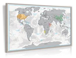 rubbel weltkarte xxl XXL Design Rubbel Weltkarte mit Echt Holz Rahmen auf Pinnwand +  rubbel weltkarte xxl