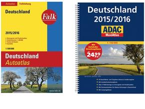 Bild zu ADAC MaxiAtlas Deutschland 2015/2016 für 14,99€ oder Falk Autoatlas Deutschland 2015/2016 für 7,99€