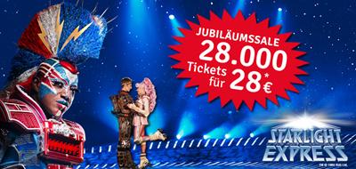 Bild zu [nur noch heute] 28.000 Starlight Express Tickets für je 28 Euro