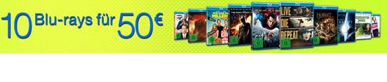 Bild zu Amazon: 10 Blu-rays für 50€ inklusive Versand