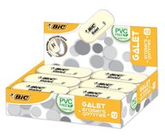 Bild zu [Vorbei] BIC Radierer Galet aus synthetischem Kautschuk, 58 x 28 x 13 mm, Displaybox à 12 Stück für 3,29€